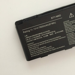 BTY-M6D 7800mAh 87Wh Battery For MSI GT660 GT680 GT683 Series Medion Erazer X6811