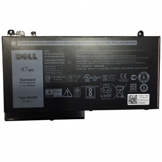 Dell NGGX5 RDRH9 11.4V 47Wh Latitude E5270 100% New Battery