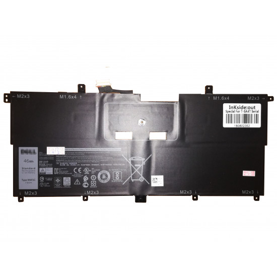 Dell XPS 13 9365 Series NNF1C 46Wh 100% New battery