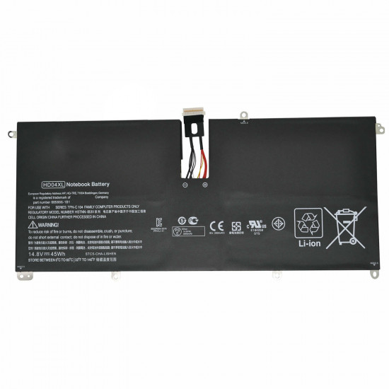 Hp HSTNN-IB3V HD04XL Envy Spectre XT 13-2000eg laptop battery