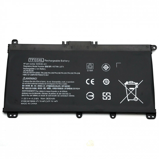 Hp TF03XL HSTNN-LB7J 920046-421 Pavilion 15-CD 15-ck000 Series Battery