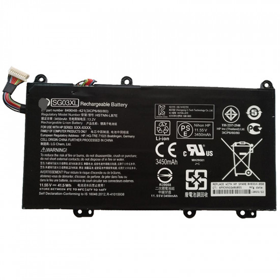 SG03XL 11.55V 41.5Wh Battery for Hp Envy 17t-U000 17-U000  Envy 17-U108CA
