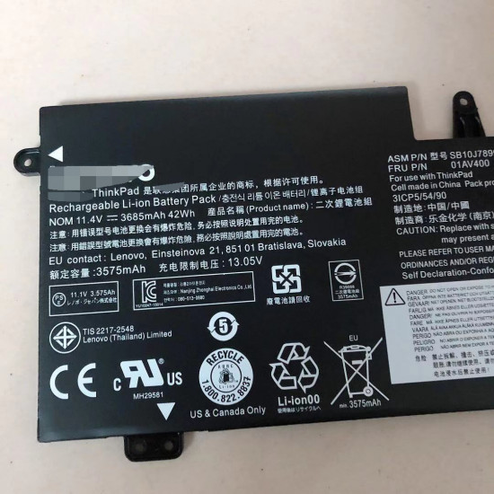 Lenovo 01AV401 01AV400 01AV437 Thinkpad S2 13 laptop battery