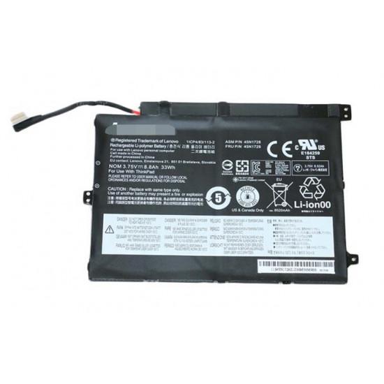 Lenovo 45N1727 45N1728  45N1729 45N1732 45N1733 ThinkPad 10 33Wh Tablet Battery