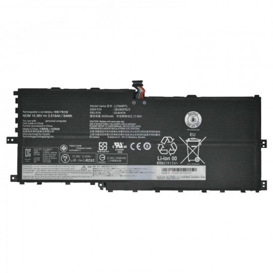 Lenovo L17M4P71 L17C4P71 01AV474 01AV475 SB10K97623 ThinkPad Yoga 2018 Battery