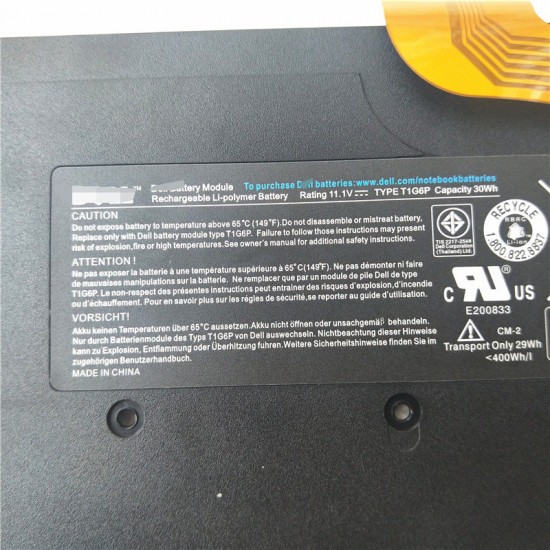 Dell T1G6P 0449TX 0NTG4J Vostro V13 V130 V13Z Series laptop battery