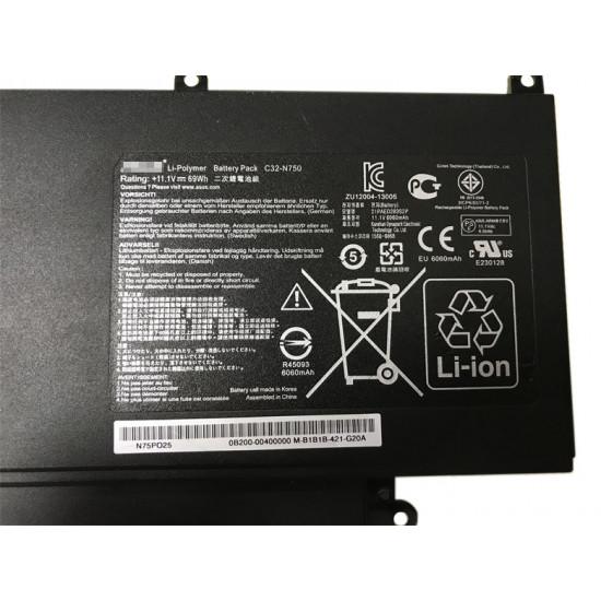 Asus C32-N750 69Wh N750JK N750JV N750Y47JK Series 100% New Battery