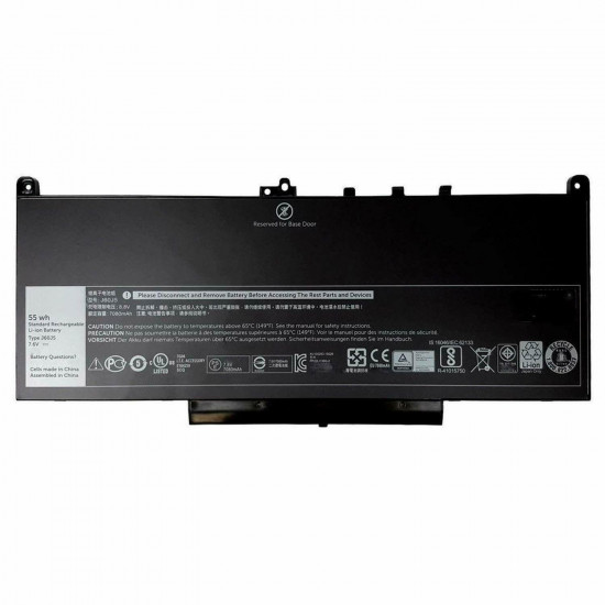 J60J5 1W2Y2 55Wh Battery for Dell Latitude E7270 E7470 MC34Y 242WD